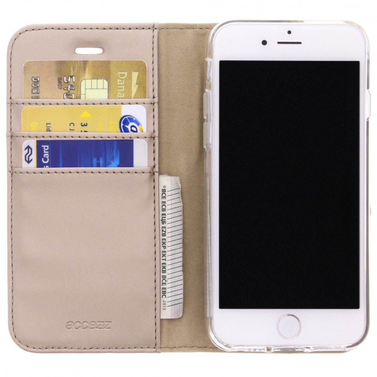accezz booklet wallet gold iphone 78se 2020