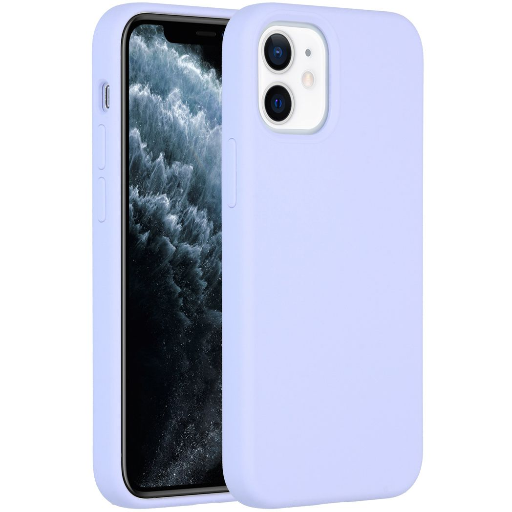 accezz liquid silicone backcover iphone 12 mini paars