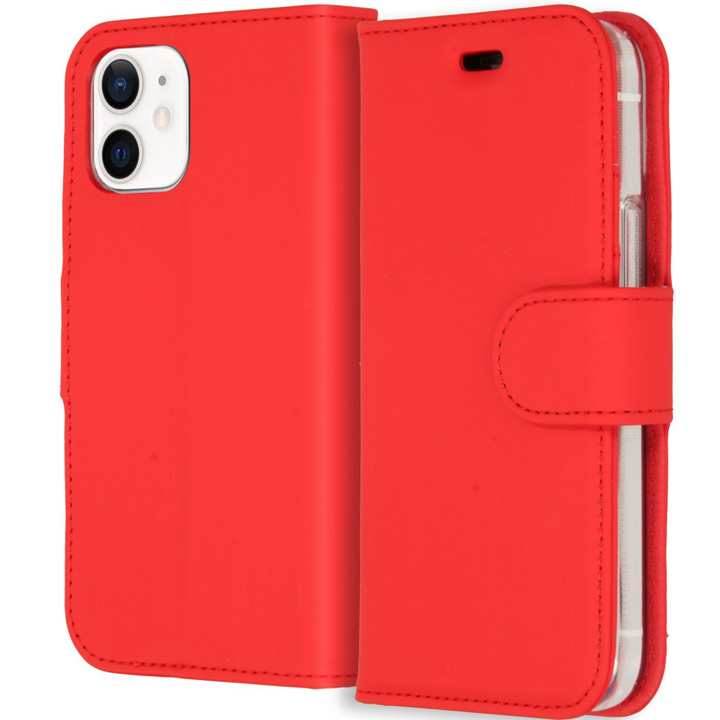 accezz wallet softcase booktype iphone 12 mini rood
