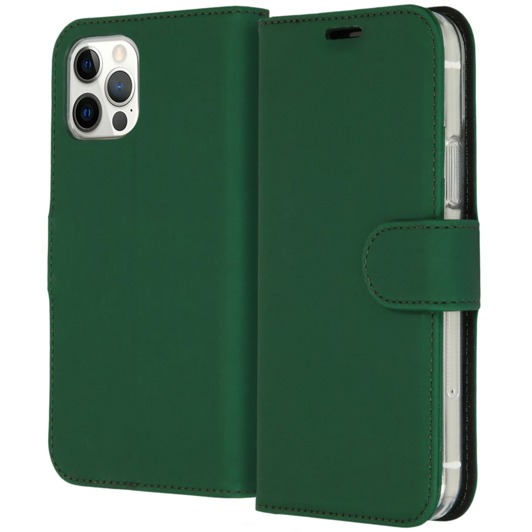 accezz wallet softcase booktype iphone 12 pro groen
