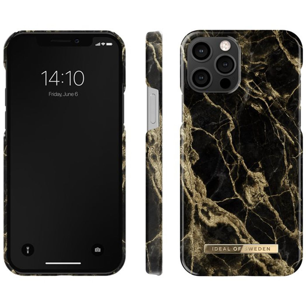 ideal of sweden fashion case golden smoke marble iphone 12 pro