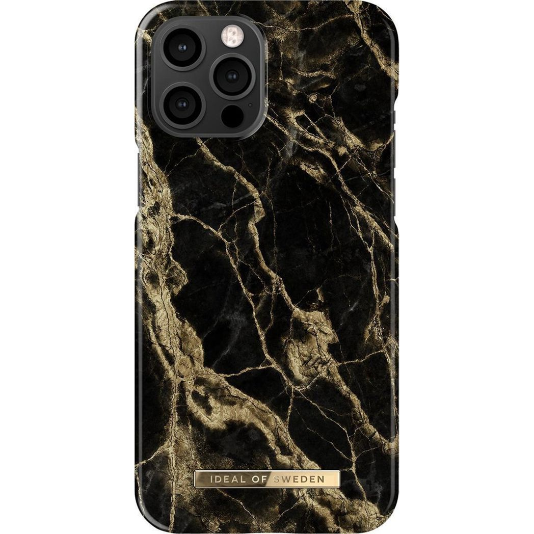ideal of sweden fashion case golden smoke marble iphone 12 pro max
